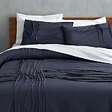 twisted navy king duvet