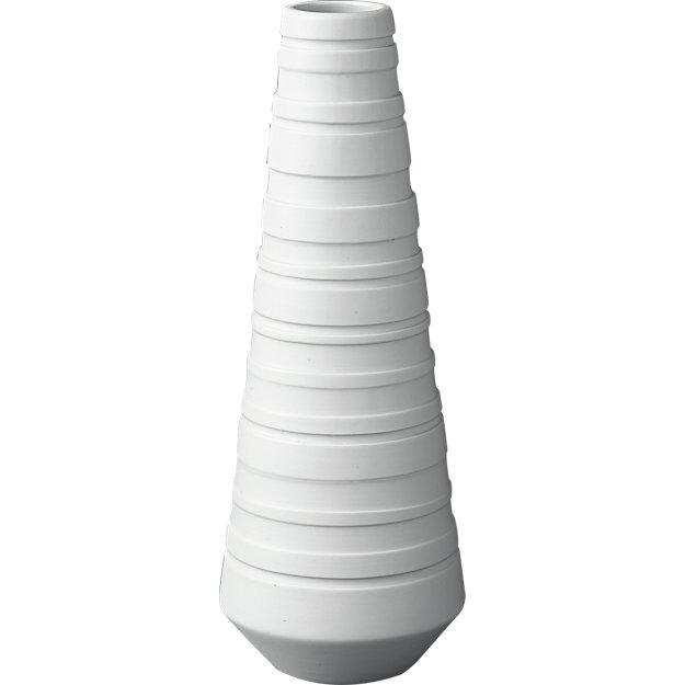 undercut white vase