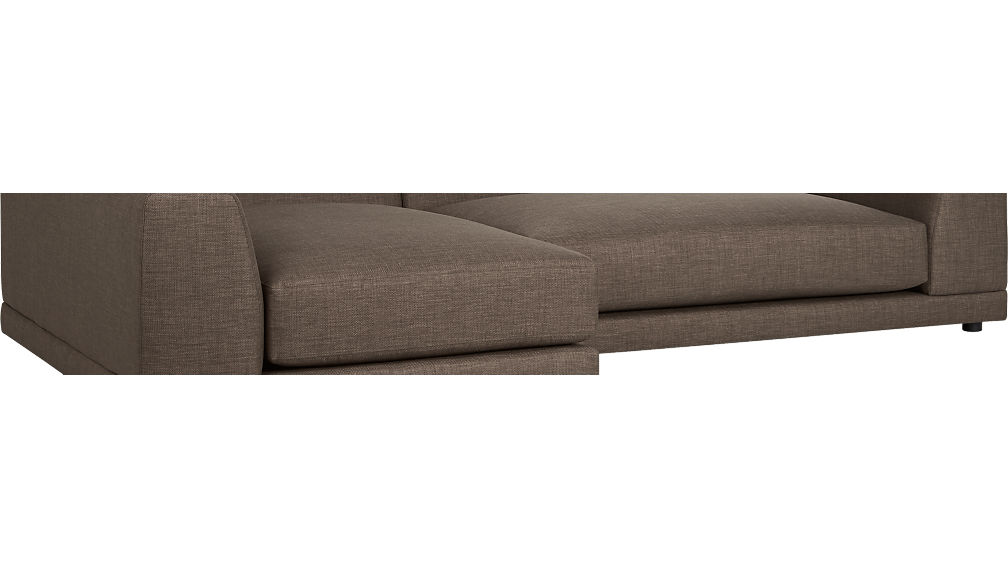 Uno 2 piece sectional sofa atomic cb2 for Uno 2 piece sectional sofa