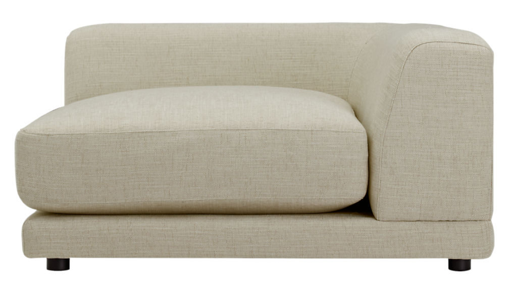 uno cream puff 2-piece sectional sofa