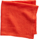 uno orange linen napkin.