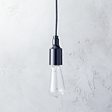 utility graphite pendant light (with bulb)