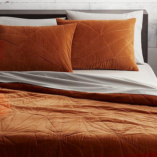 vail amber velvet bed linens