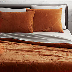 vail amber velvet bedding