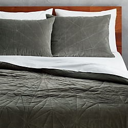 vail graphite velvet bedding
