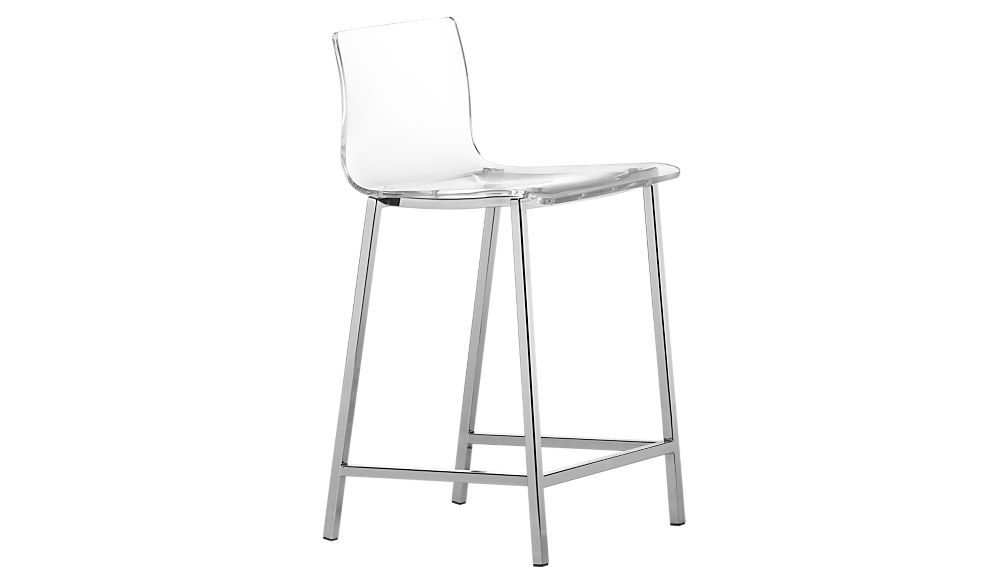 "vapor 24"" acrylic counter stool"