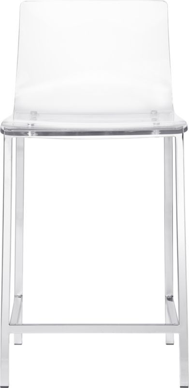 Vapor 24 Quot Acrylic Counter Stool Cb2