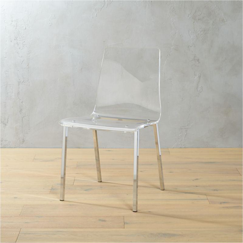 vapor acrylic chair cb2 On acrylic furniture