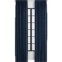 velvet navy curtain panel