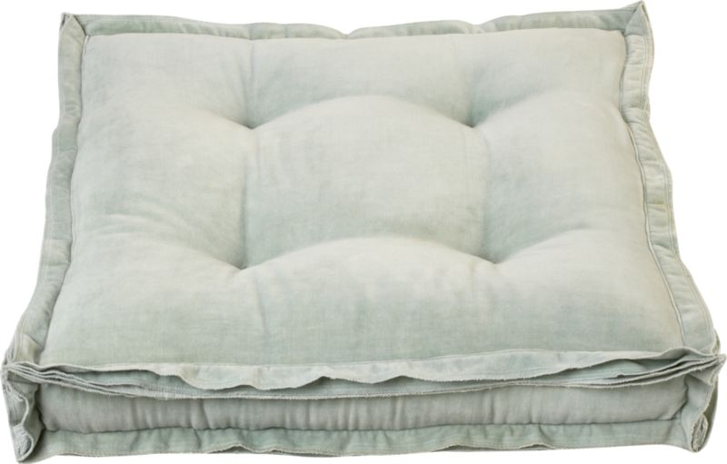"velvet mint 23"" floor pillow"