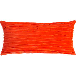 "velvet twist orange 23""x11"" pillow"