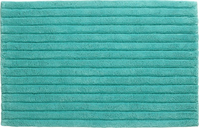 vertical stripe aqua bath rug