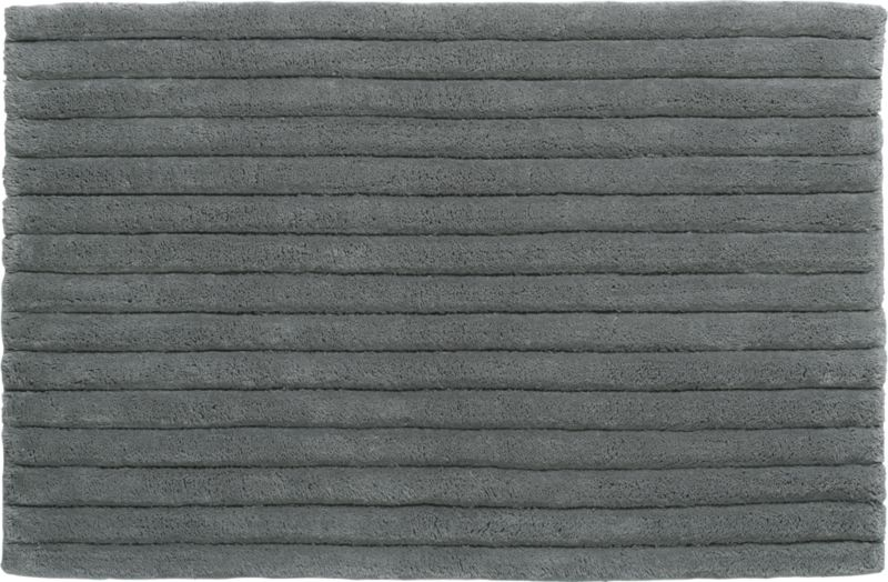vertical stripe grey bath rug
