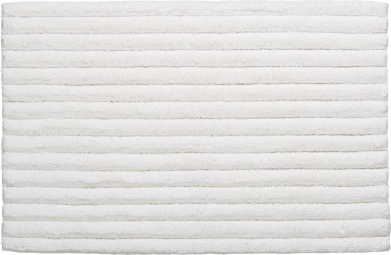 vertical stripe white bath rug
