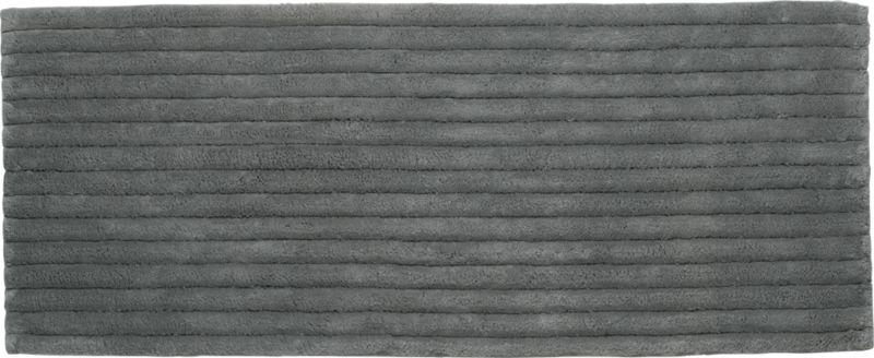 vertical stripe grey bath runner