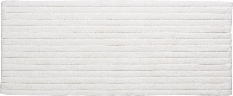vertical stripe white bath runner