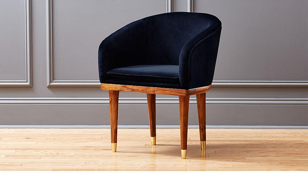 Viceroy Sapphire Blue Velvet Chair Cb2