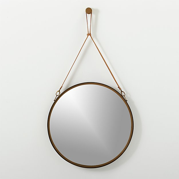"victor leather 24"" mirror"