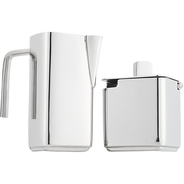 vienna stainless steel cream and sugar set