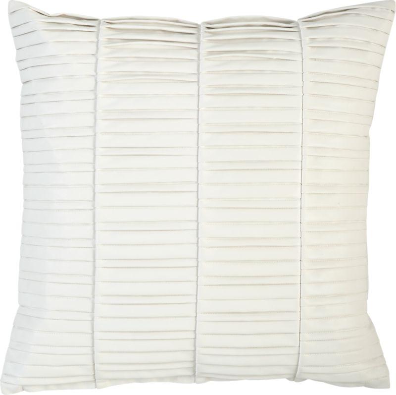 "vinyl white 16"" pillow"