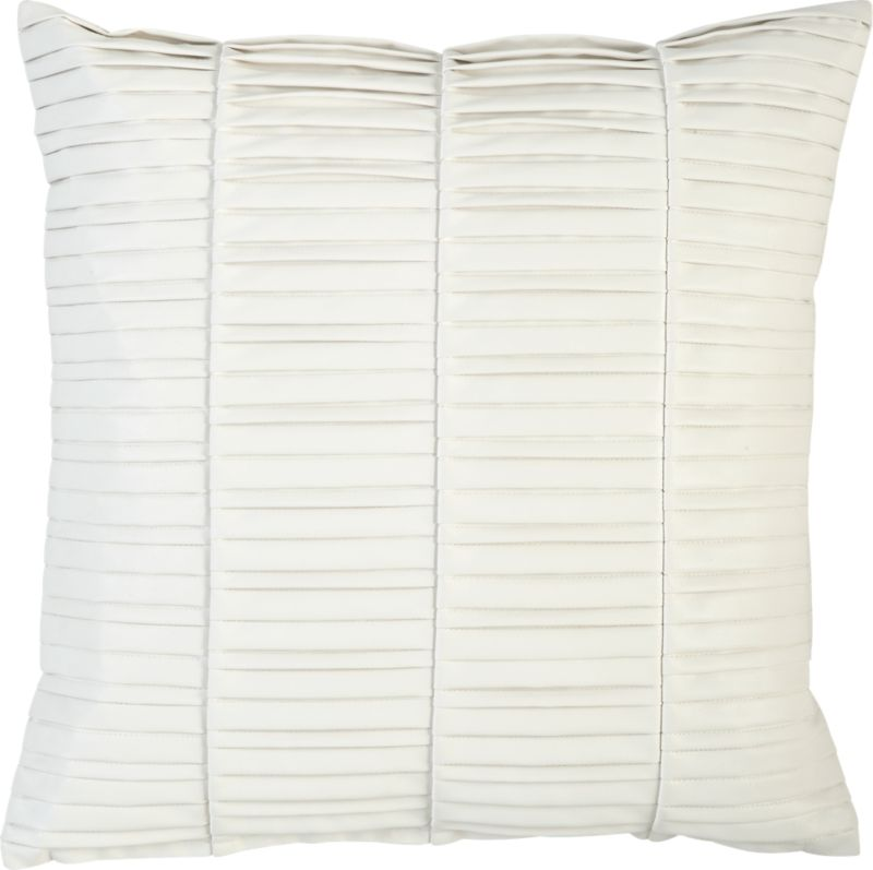 "vinyl white 16"" pillow"