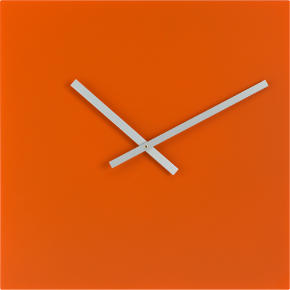 square orange 20 wall clock