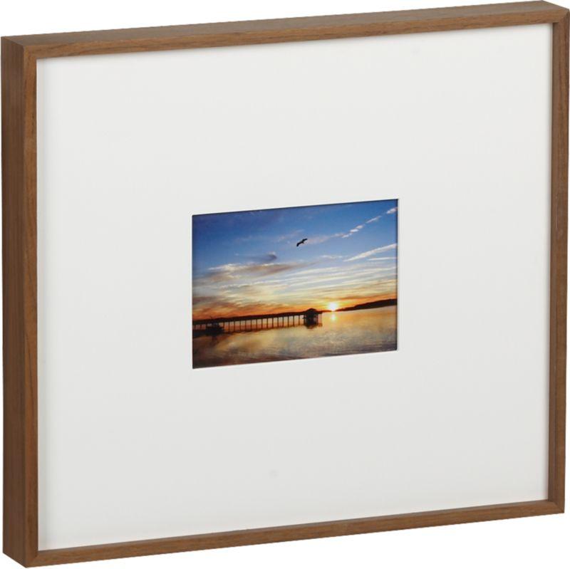 walnut 5x7 box frame