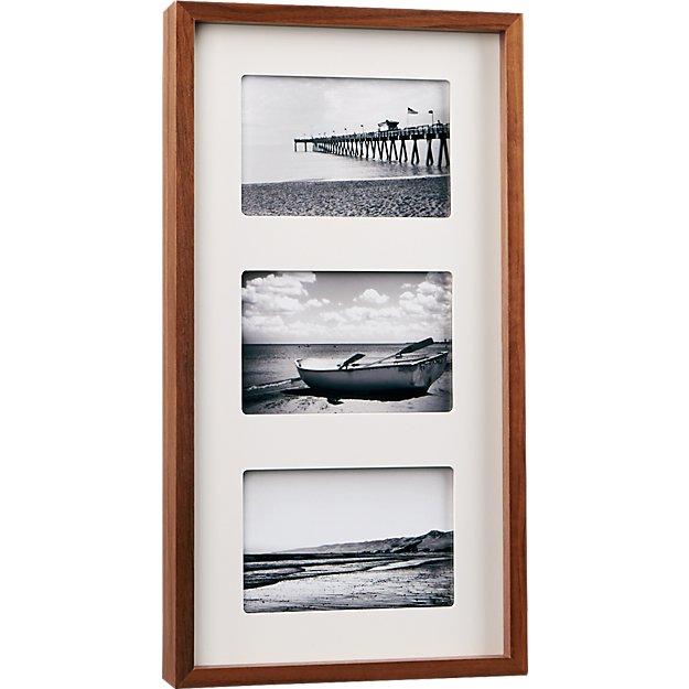 walnut multi 4x6 box picture frame