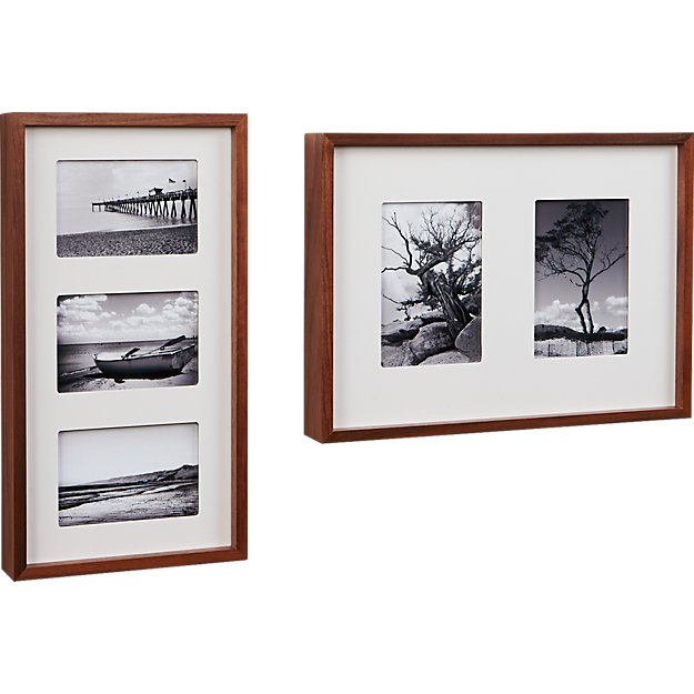 walnut multi box picture frames