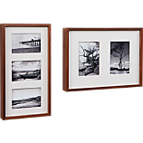 walnut multi box picture frames