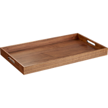 rectangular walnut tray