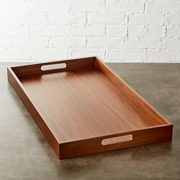 rectangular walnut tray