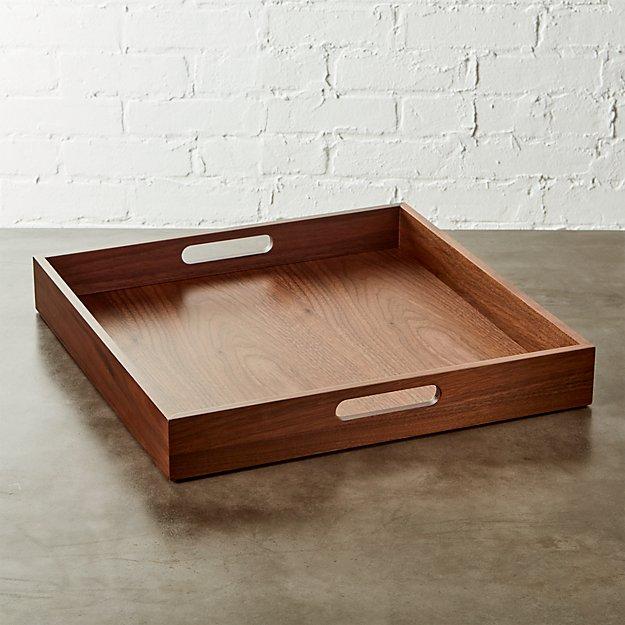 square walnut tray