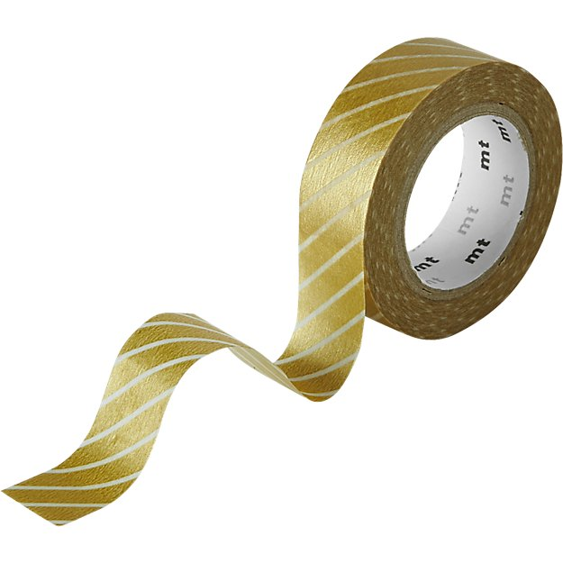 wide stripe gold washi tape