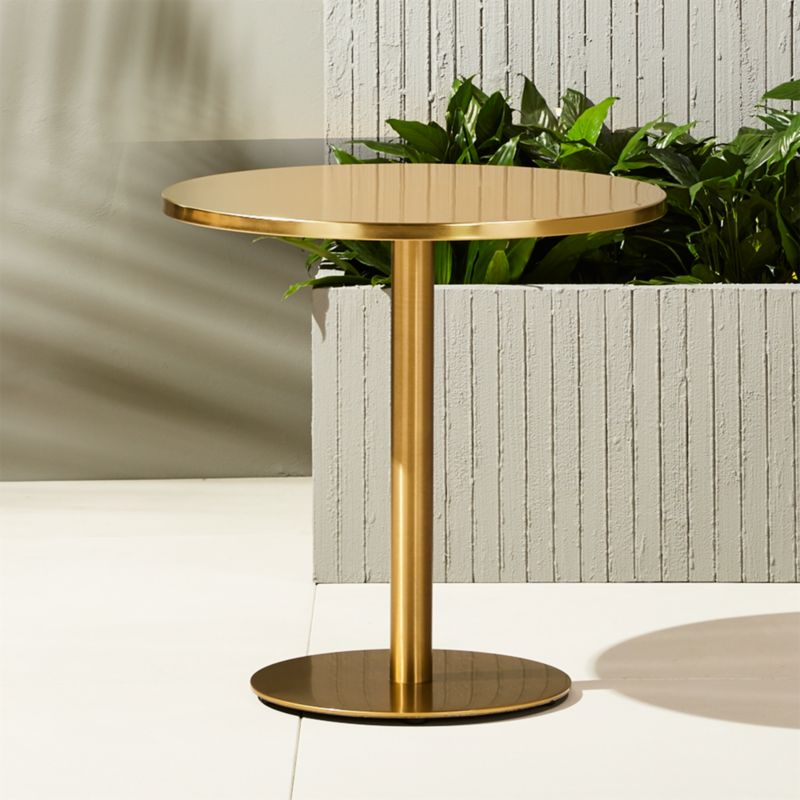 10 Great Ideas To Jazz Up A Small Square Bedroom: Watermark Brass Bistro Table