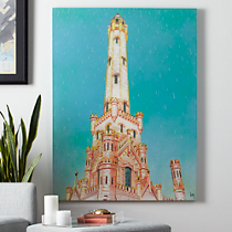 water tower print