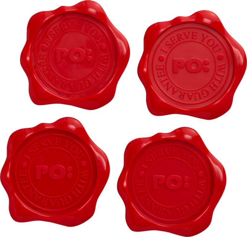 wax seal coasters set of 4