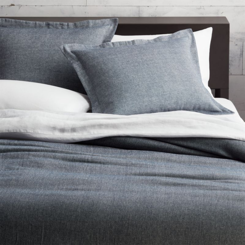 Weekendr Blue Chambray Bedding Cb2