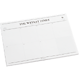 weekly times desk notepad
