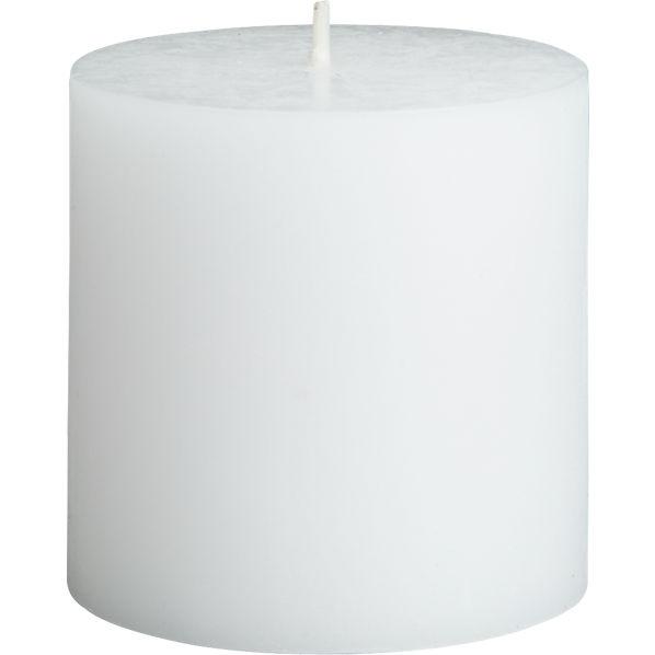 WhitePillarCandle3inF14
