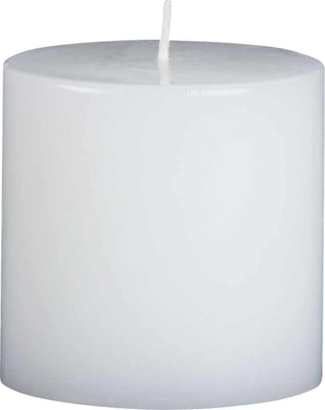 """<span class=""""copyHeader"""">perfectly neutral.</span> Pure unscented white wax pillar. So simple, so sophisticated, the flicker of a flame is the only embellishment they need.<br /><br /><NEWTAG/><ul><li>Great to have extras on hand</li><li>Pure, unscented paraffin wax with lead-free cotton wicks</li><li>Burn time: 35 hours</li></ul>"""
