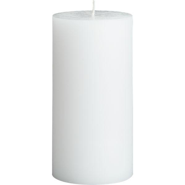 WhitePillarCandle3x6F14