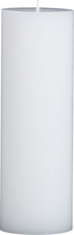 """<span class=""""copyHeader"""">perfectly neutral.</span> Pure unscented white wax pillar. So simple, so sophisticated, the flicker of a flame is the only embellishment they need.<br /><br /><NEWTAG/><ul><li>Great to have extras on hand</li><li>Pure, unscented paraffin wax with lead-free cotton wicks</li><li>Burn time: 90 hours</li></ul>"""