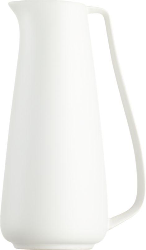 white pitcher