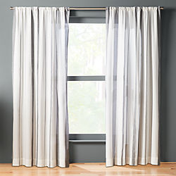 wide stripe curtain panel