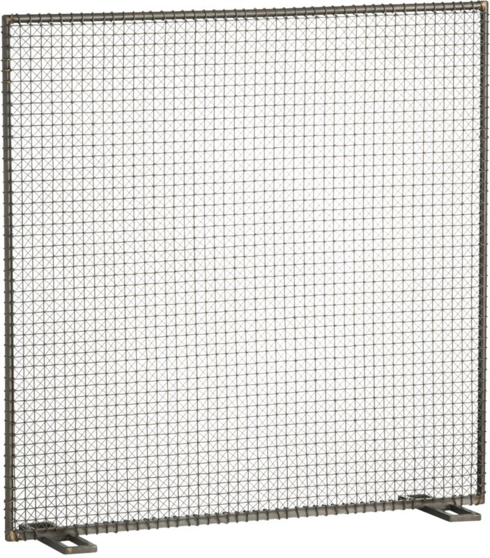 wire fireplace screen