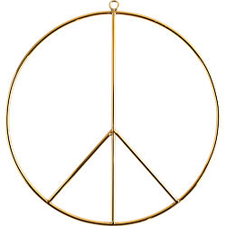 wire peace wall hanging