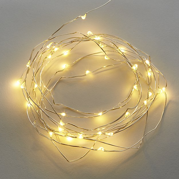 "21"" white twinkle string lights"