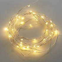 """21"""" white twinkle string lights"""