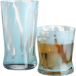 wisp blue barware